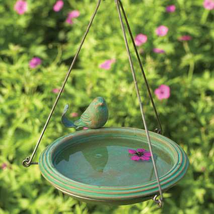 Hanging Bird Baths Hanging Garden Birdbaths For Backyard