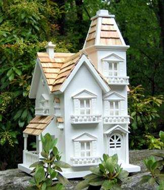 Home bazaar victorian manor bird house decorative and for Classic bird houses