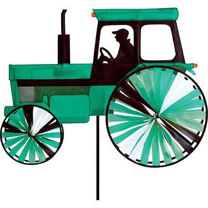 Premier Designs Green Farm Tractor Wind Spinner Green