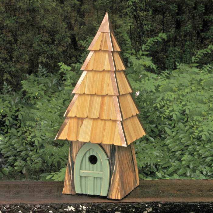 Lord of the Wing Bird House Moss Green