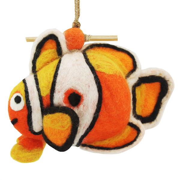 Wild Woolies Felt Bird House Clown Fish
