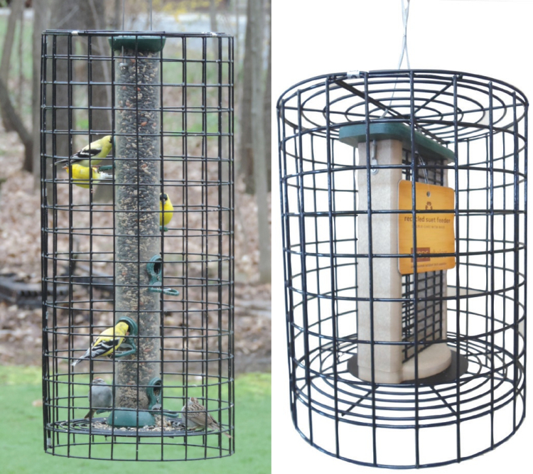 Retrofit Wire Cages For Bird Feeders