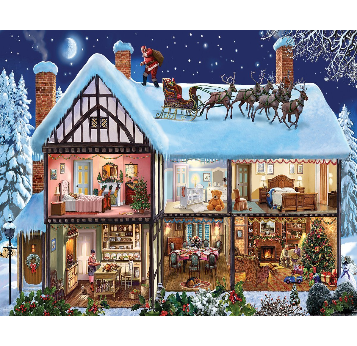 Christmas House 1000 Piece Jigsaw Puzzle