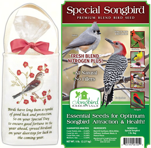 Good Luck Everyday Gift 5-Bag Kit with Bird Seed