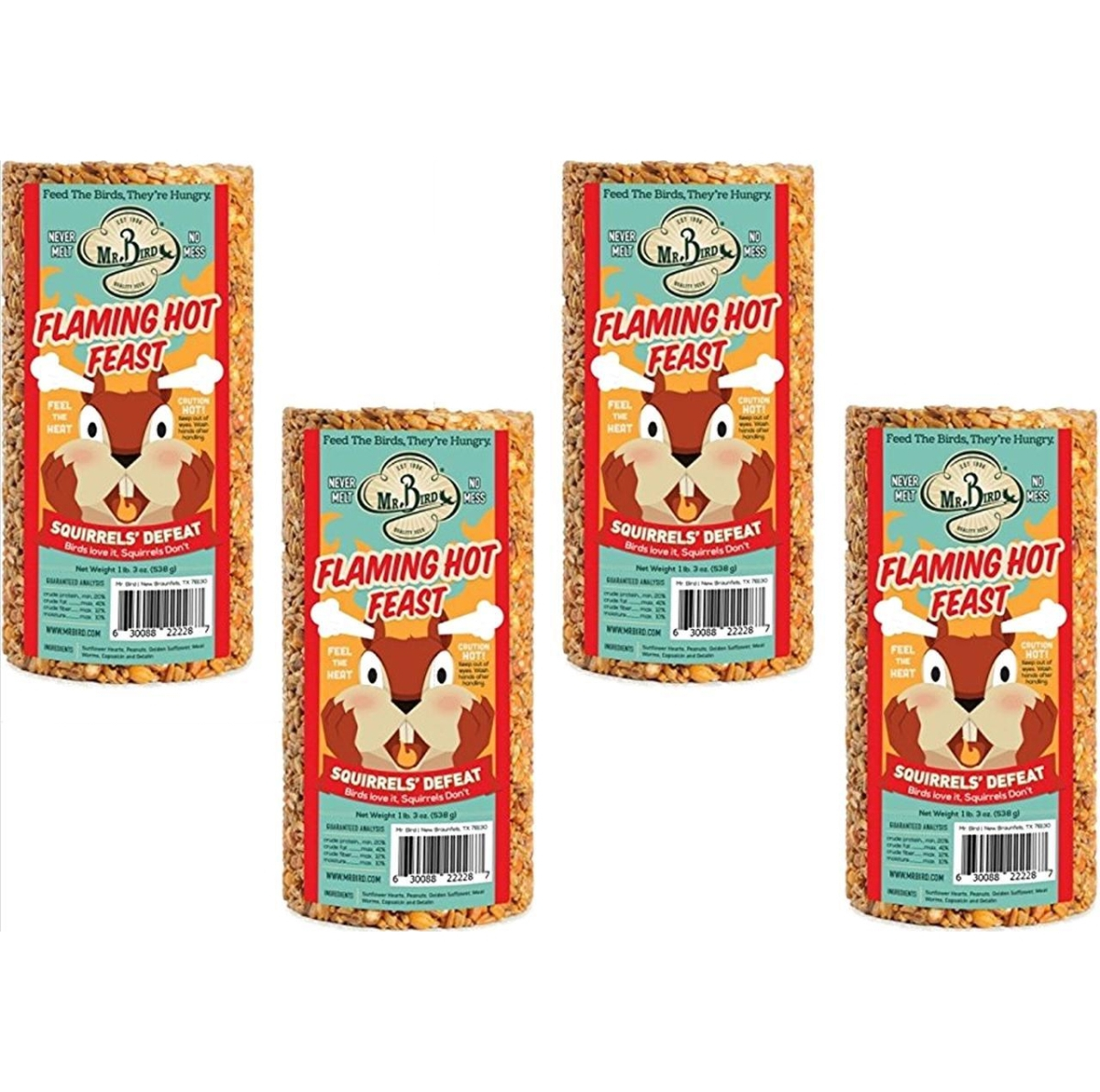 Flaming Hot Feast Seed Cylinder Small 4/Pack