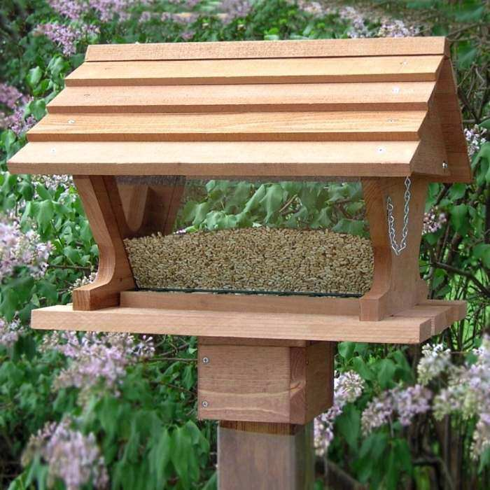 Belle Vista Large Capacity Hopper Bird Feeder