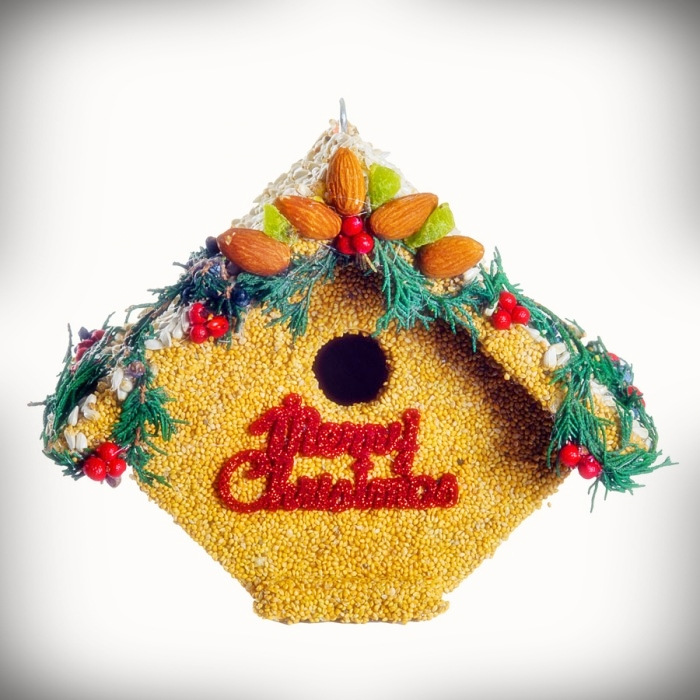 Juniper Casita Merry Christmas Edible Birdhouse