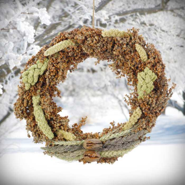 Red Sorghum and Spray Millet Edible Wreath