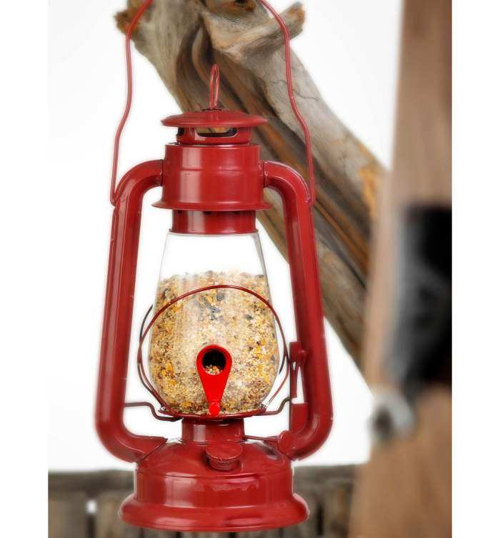 Outdoor Lover Hurricane Lantern Bird Feeder