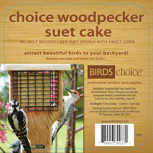 Choice Woodpecker Suet Cake 12/Pack