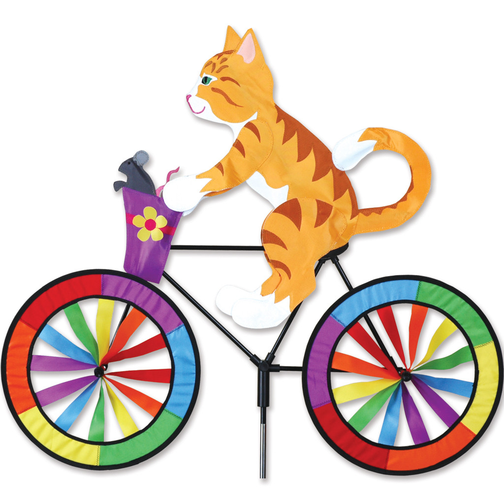 Kitty Bicycle Garden Spinner Large