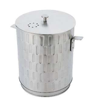 Kitchen Compost Pail Brushed Stainless Steel