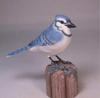 Carved Blue Jay 5