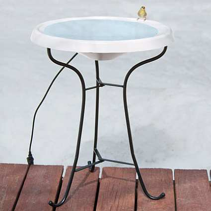 Select Heated Pedestal Birdbath