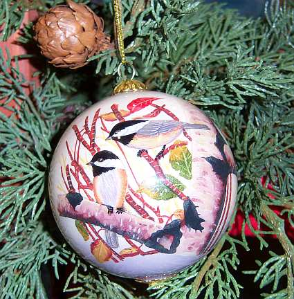 Songbird Series Chickadees Ornament