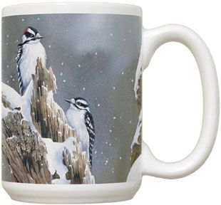 Downy Woodpecker 15 oz Coffee Mug 2/Set