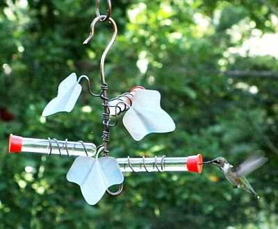 Copper Ivy Leaf Hummingbird Feeder