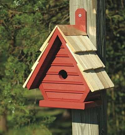 Chick Shake Shingled Bird House