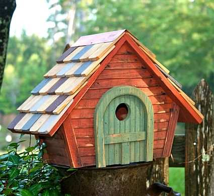 Prairie Home Bird House Redwood