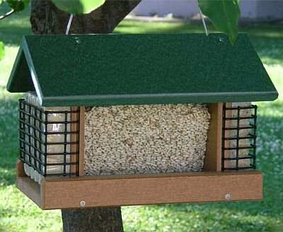 Recycled Poly 2 Suet & A Seed Feeder