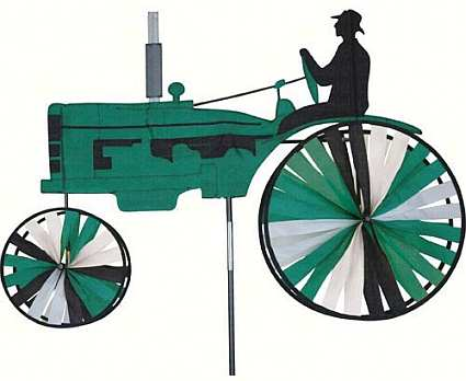 Green Farm Tractor Wind Spinner
