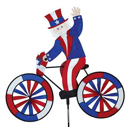 Uncle Sam Bicycle Garden Spinner Large