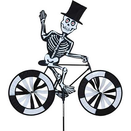 Premier Designs Skeleton Bicycle Garden Spinner Medium, Skeleton