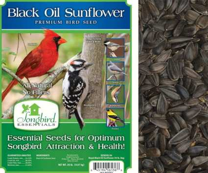 Songbird Royal Black Oil Sunflower Bird Seed 20#
