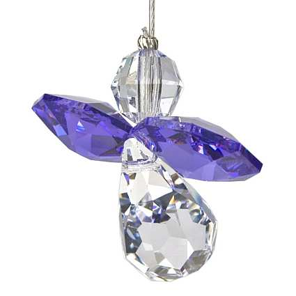Crystal Guardian Angel Suncatcher Amethyst