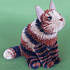 Brushart Bristle Brush Animal Calico Cat Sit 16