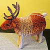 Brushart Bristle Brush Ornament Reindeer