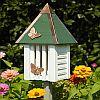 Flutterbye Butterfly House White