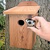 Cedar Birdhouse with Hawk Eye Nature Camera