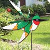 Flying Ruby Throated Hummingbird Wind Spinner