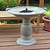 Country Gardens Solar Bird bath