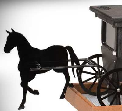 Buggy Wren House with optional buggy horse replica