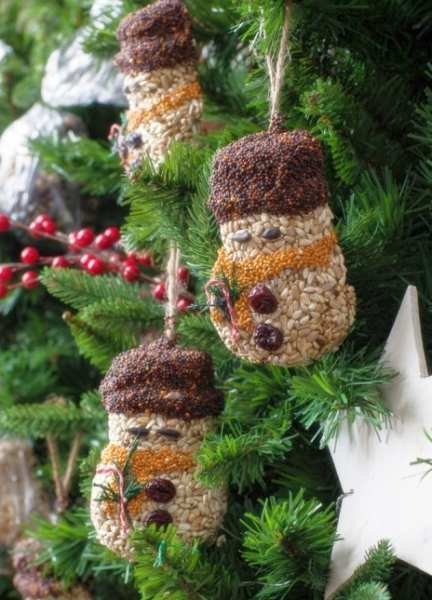 Christmas Shapes Bird Seed Ornaments