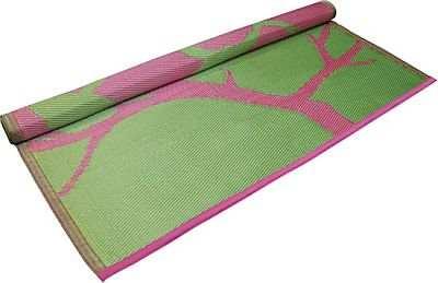 Bird Design Floor Mat Pink/Lime