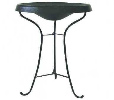 Select Heated Pedestal Bird Bath Black