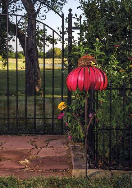 Desert Steel Coneflower Bird Feeder