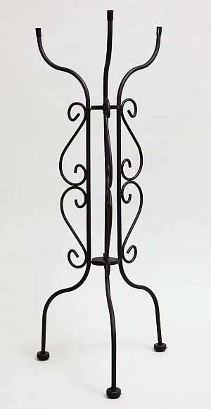 Scrollwork Tall Bird Bath Stand