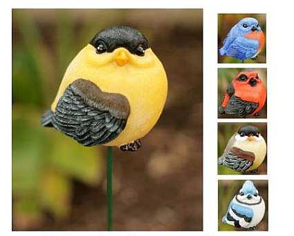 Audubon Birds Resin Garden Stakes Set of 24