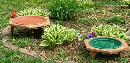 Low Profile Garden Baths