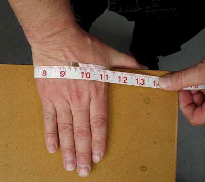 How to measure your hands for glove size.