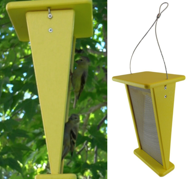 Recycled Plastic V-Shaped Goldfinch Feeder