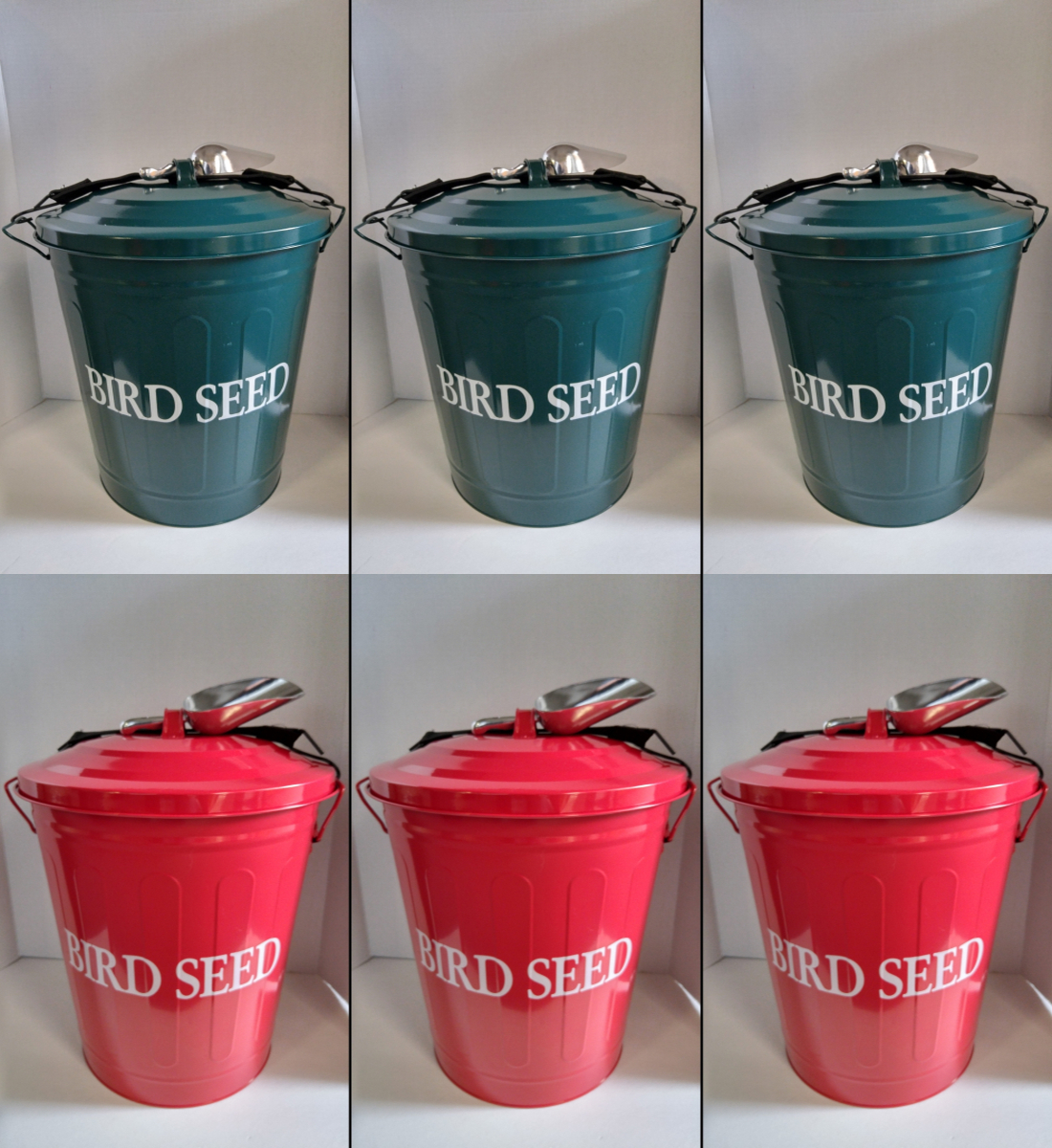 Bird Seed Storage Containers Large Set of 3