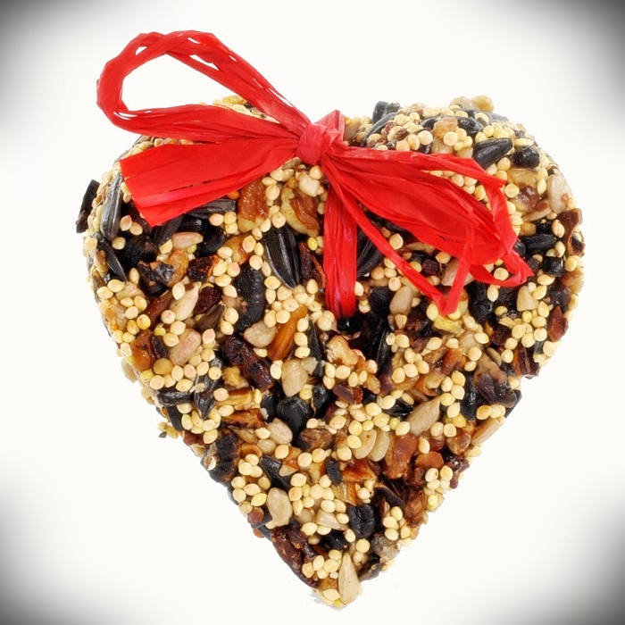 Little Heart Birdseed Ornaments Set of 6