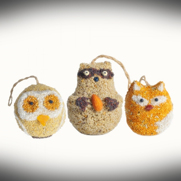 Woodland Friends Bird Seed Ornament 18/Pack