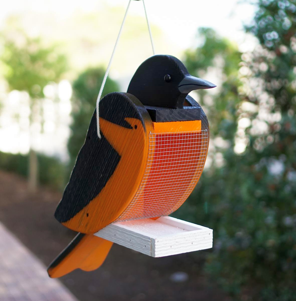 Amish Hand-Made Shaped Bird Feeder Oriole