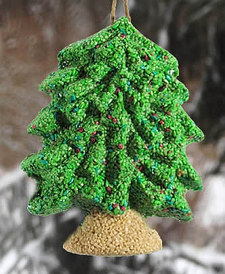 Merry Christmas Tree Hanging Bird Feeder